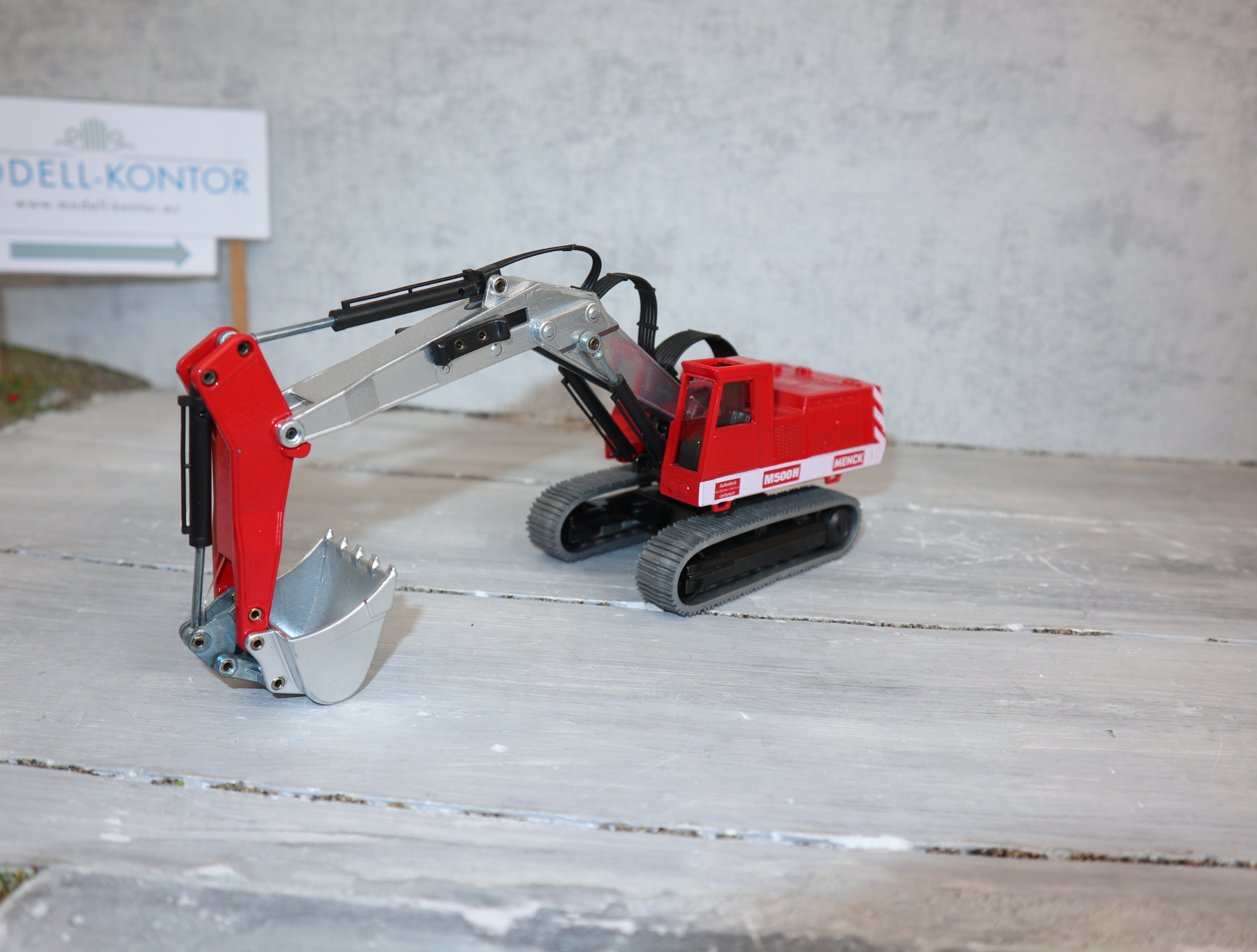Siku 3510 Großbagger Version MENCK M500H rot-weiß komplett in OVP