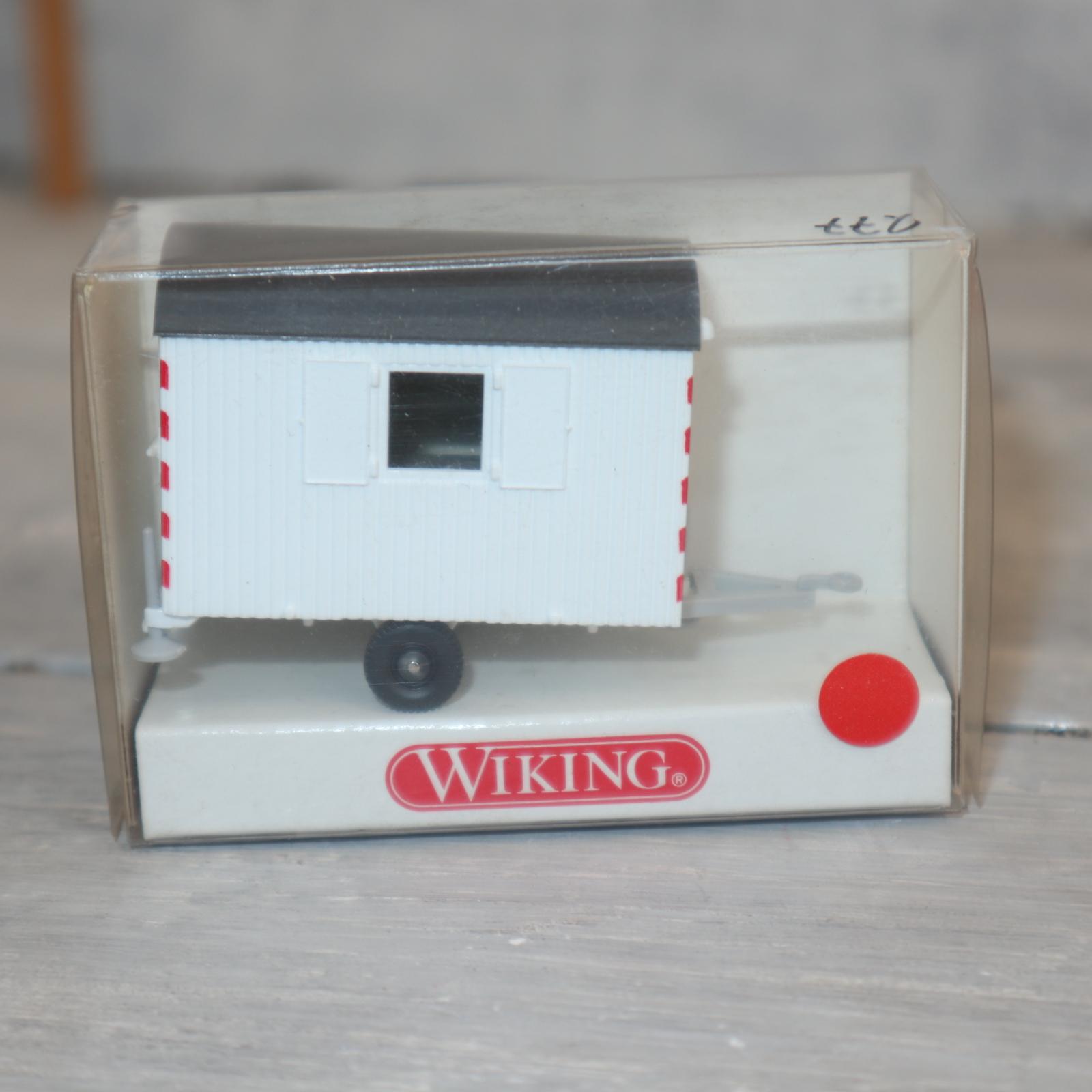 Wiking 65601 1:87 Bauwagen Einachser in weiß, NEU in OVP