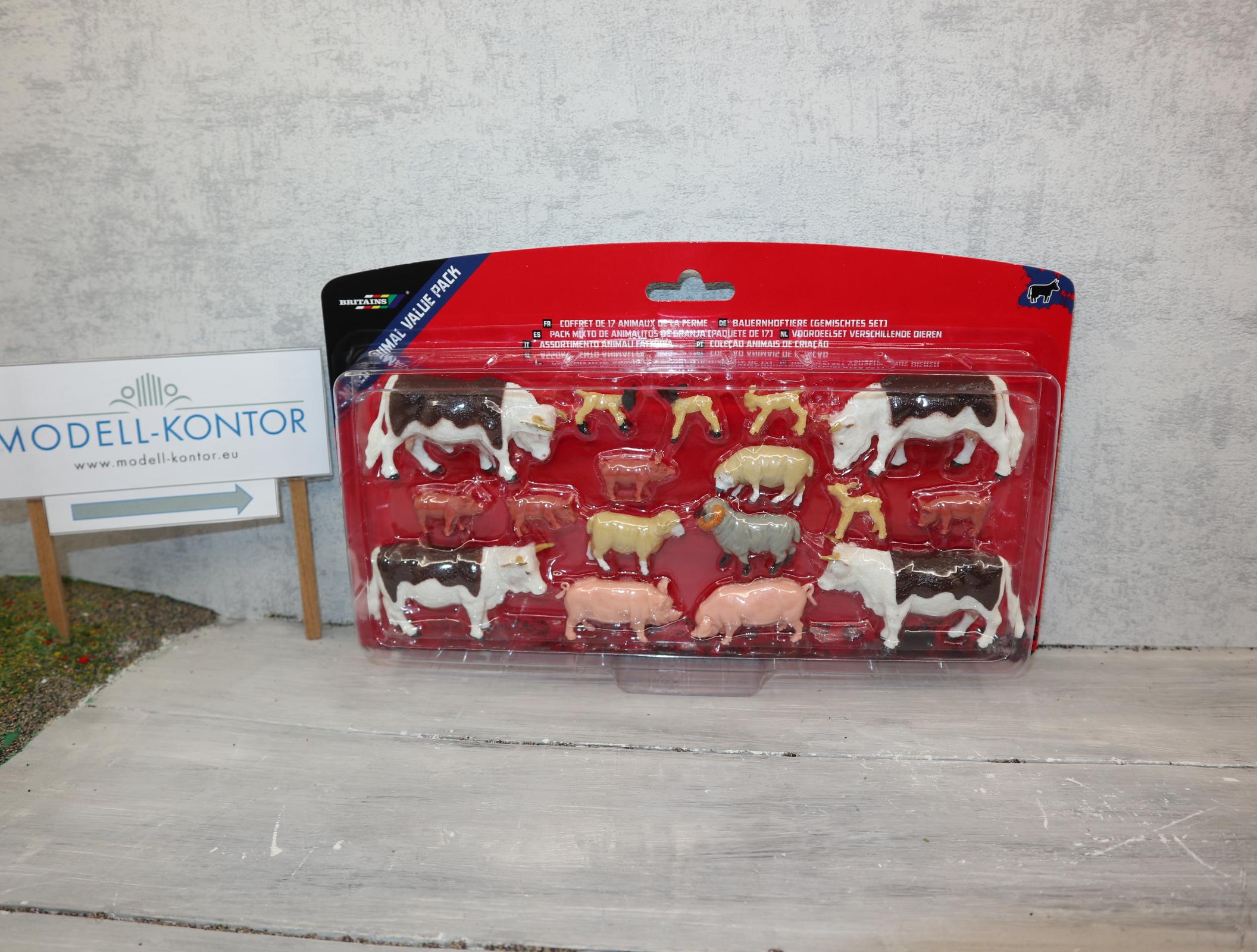 Britains 43096 1:32 Bauernhoftiere 17 Tiere in OVP