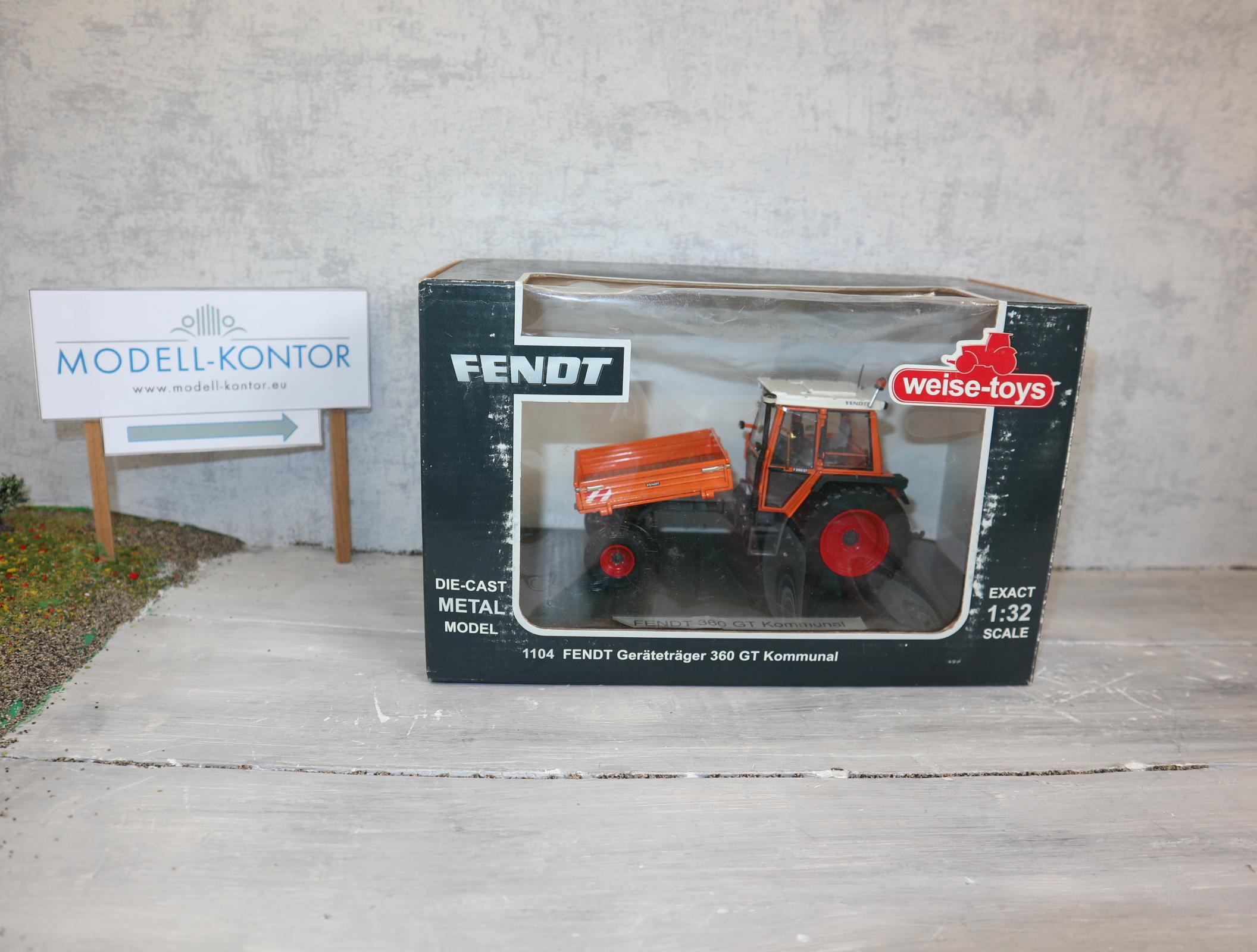 Weise Toys 1104 in 1:32 Fendt Geräteträger 360 GT Kommunal neu in OVP