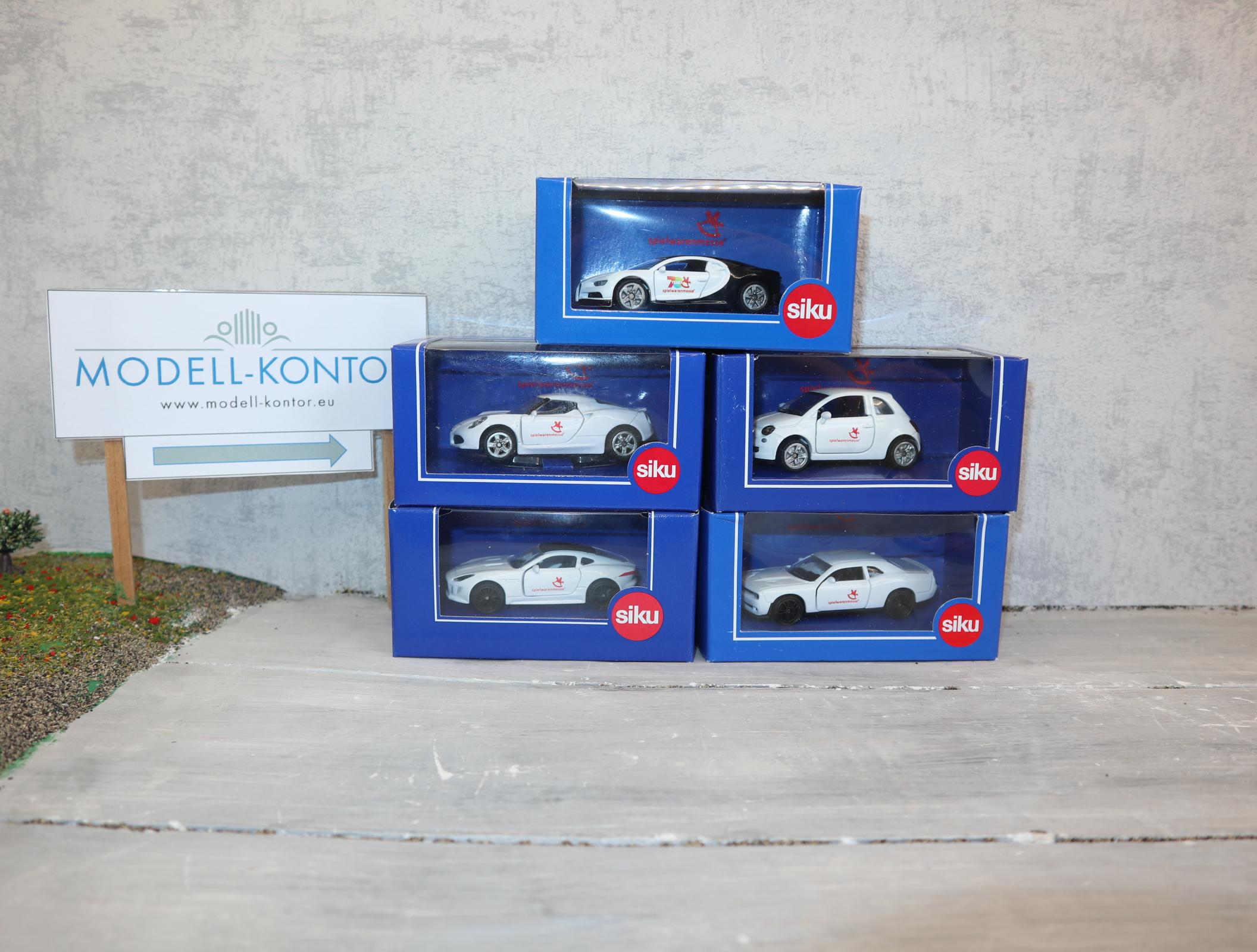 Siku PKW Sondermodelle Spielwarenmesse 5 Stück-Set 1508 1520 1453 1451 1408 in OVP