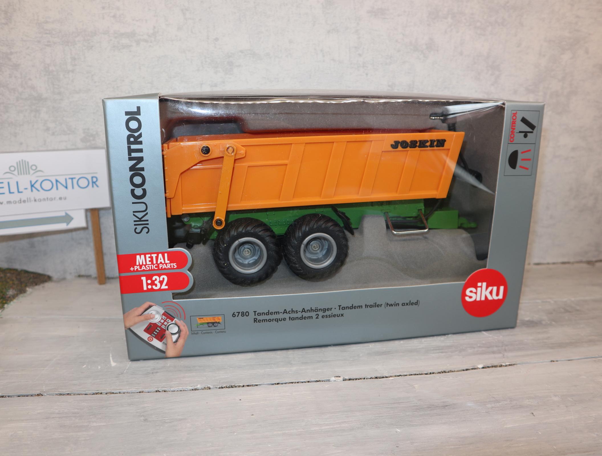 Siku 6780 1:32 Control Tandem-Hinterkipper orange ohne eigenen Akku in OVP
