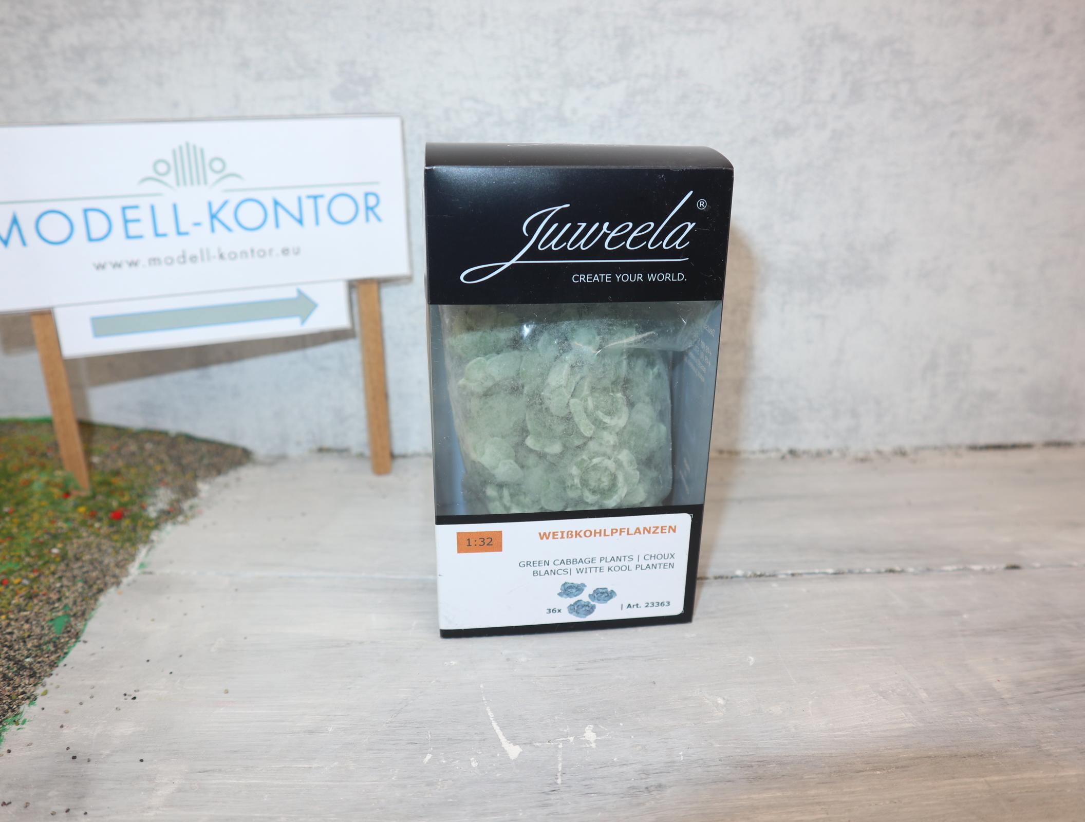 Juweela 23363 in 1:32 Weißkohlpflanzen (36 Stück) in OVP