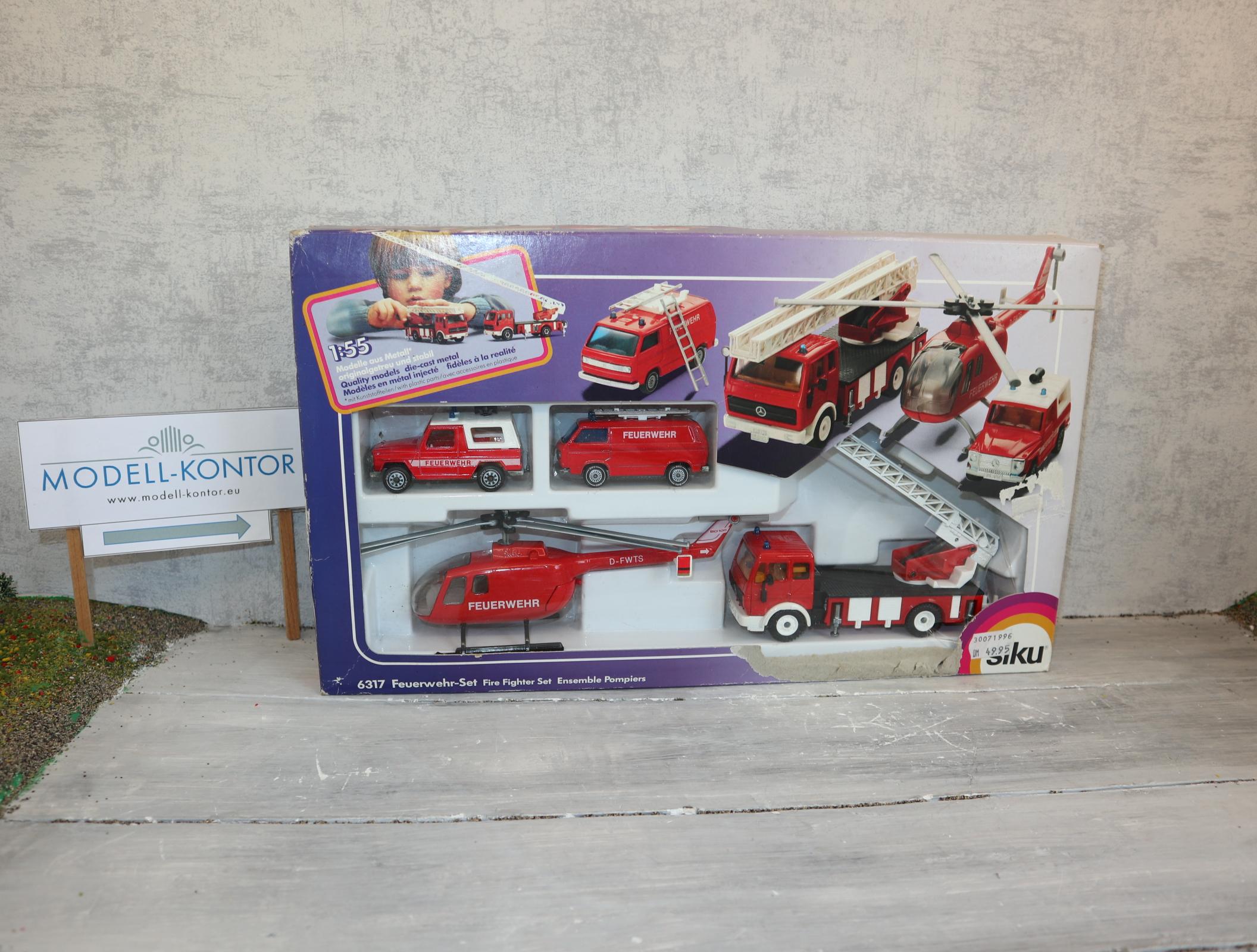 Siku Set 6317 in 1:55 Feuerwehr-Set in OVP