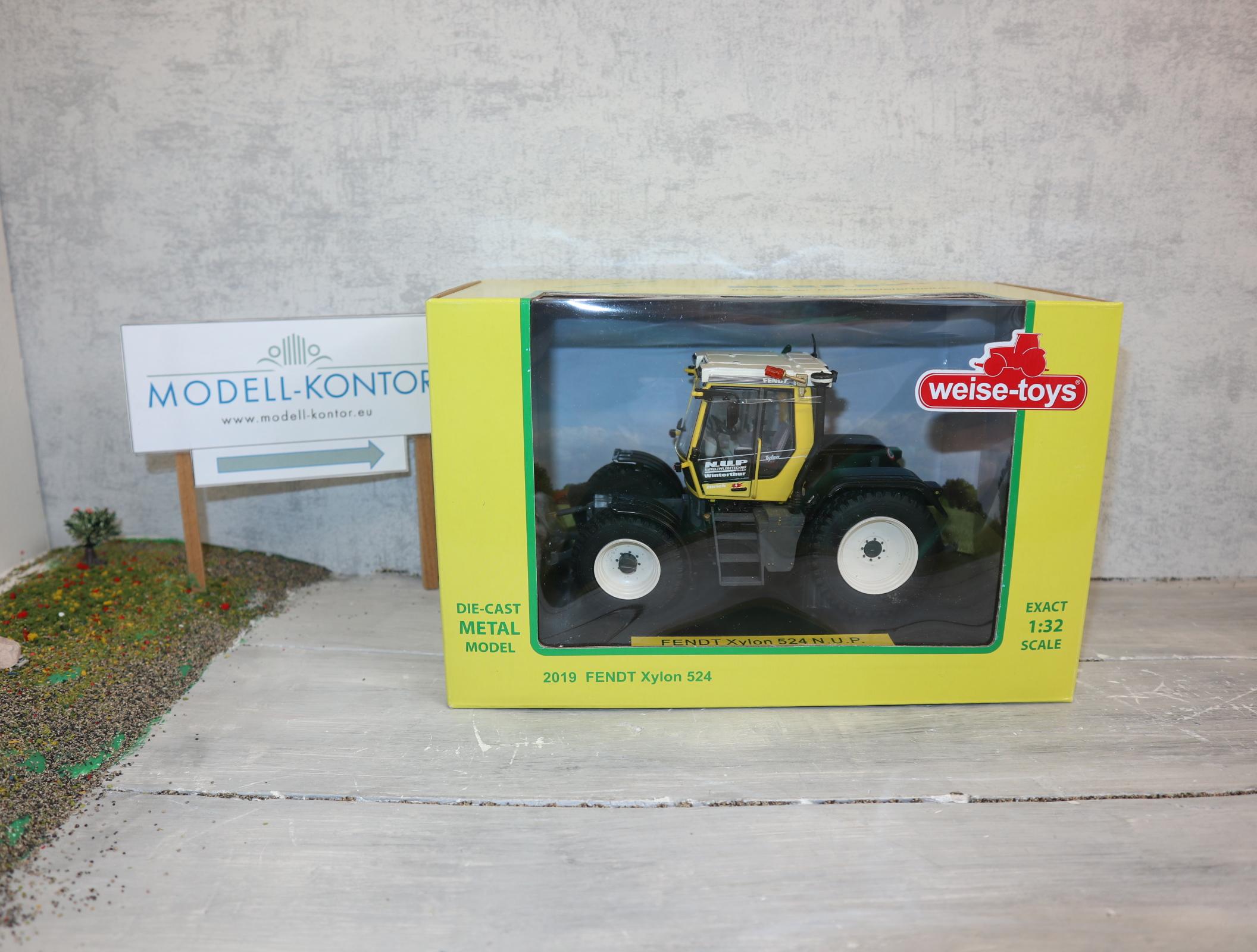 Weise Toys 2019 1:32 Fendt Xylon 524 gelb N.U.P.  Sondermodell nur 500 Stück !! neu in OVP