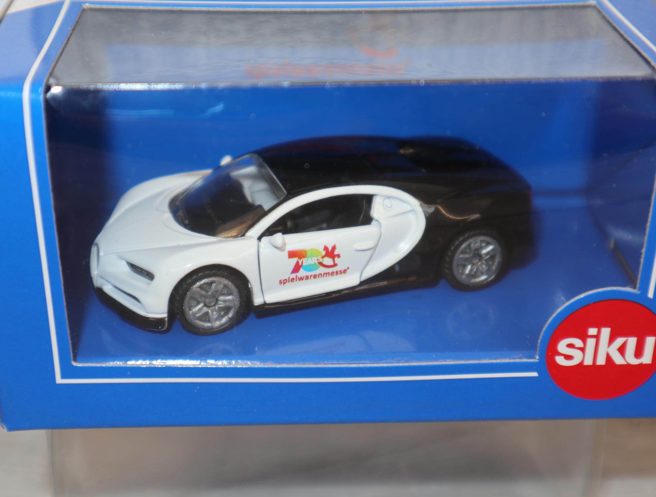 """Siku 1508 1:50 Bugatti Chiron Sondermodell Spielwarenmesse Nürnberg 2019 """"70Jahre"""" in OVP"""