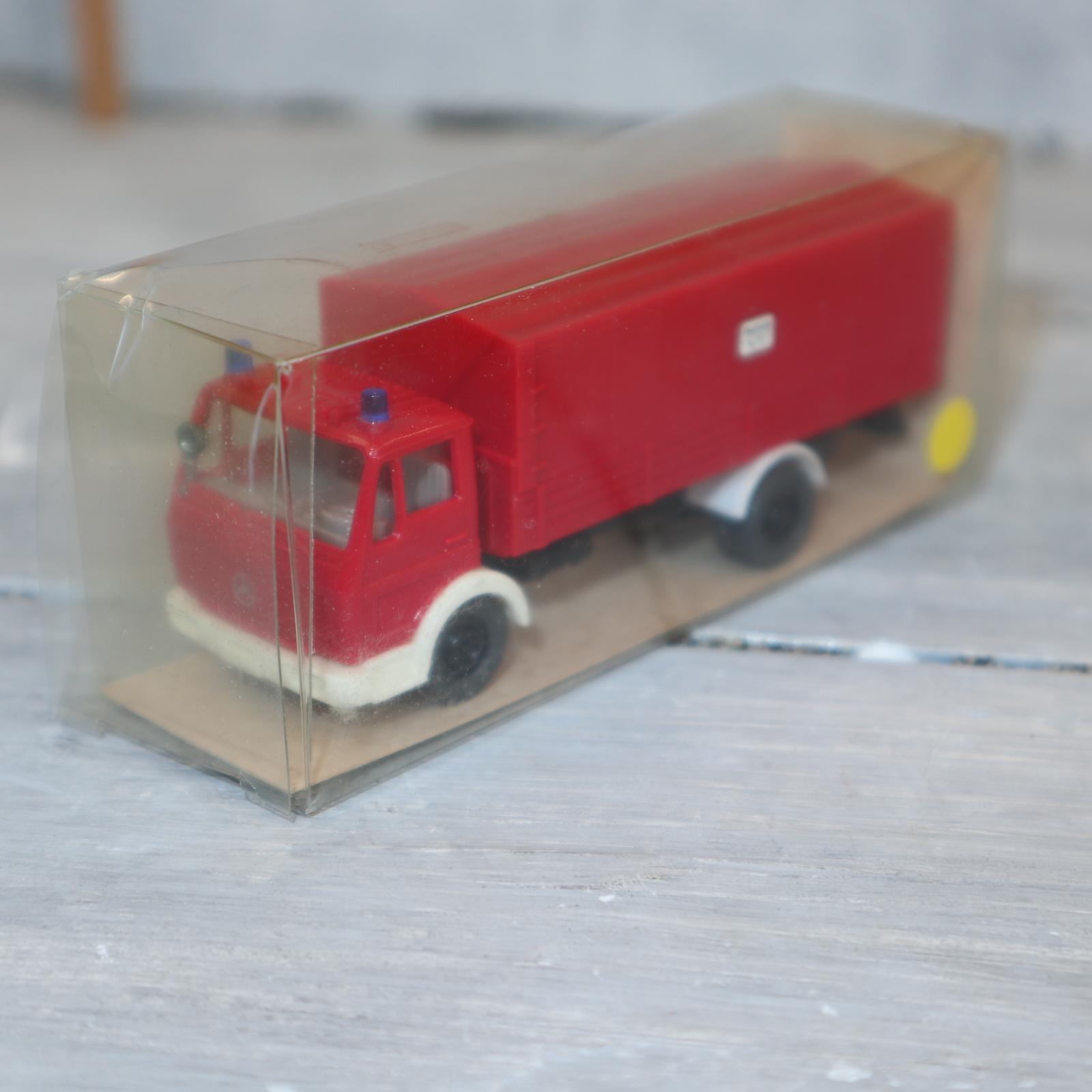 Wiking 20628 in 1:87 Feuerwehr MB 617 als Pritschenwagen mit Verdeck, NEU in  OVP
