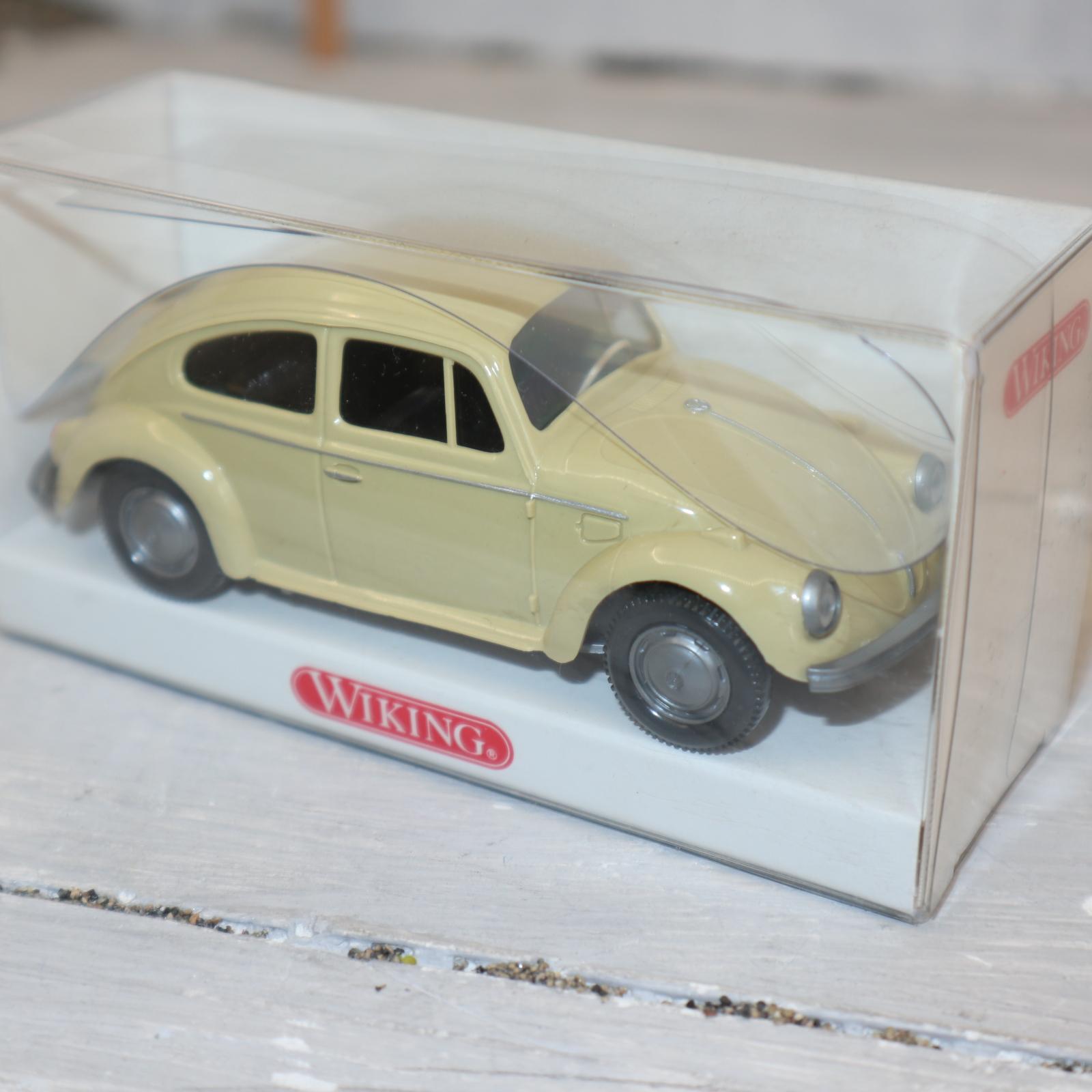 Wiking 7610239, 1:40 Käfer in beige, großes Heckfenster, NEU in OVP