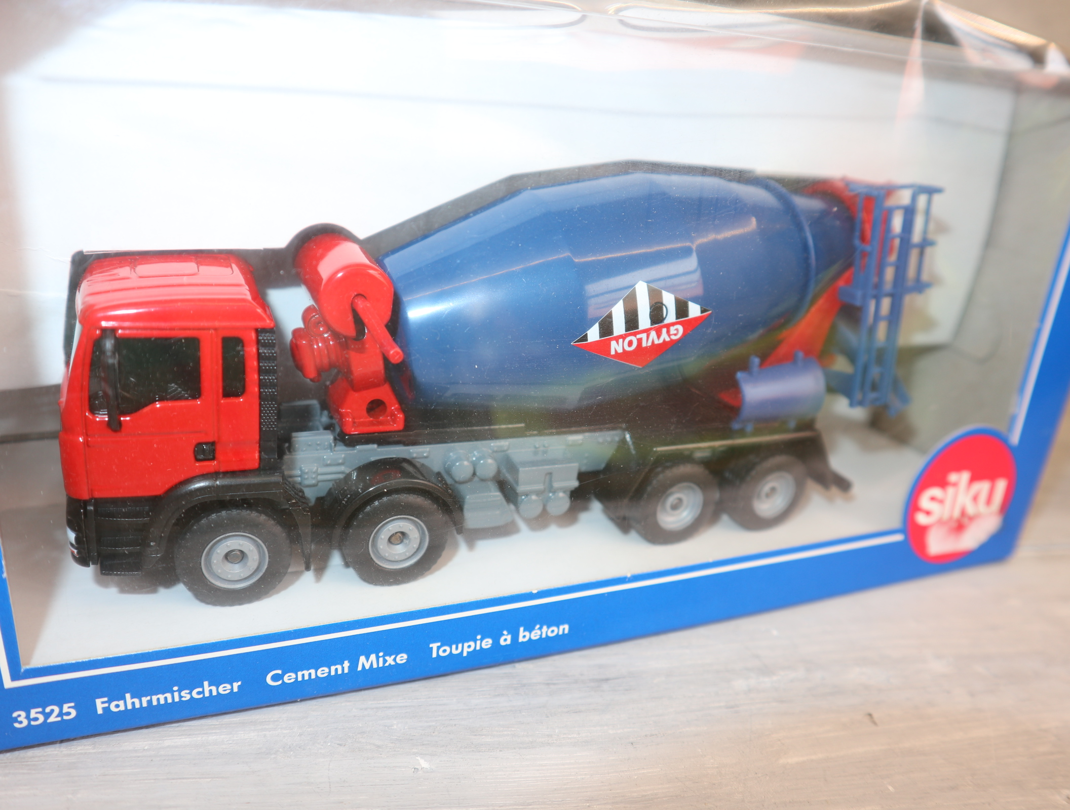 Siku 3525 1:55 Beton-Fahrmischer blau-rot komplett in OVP