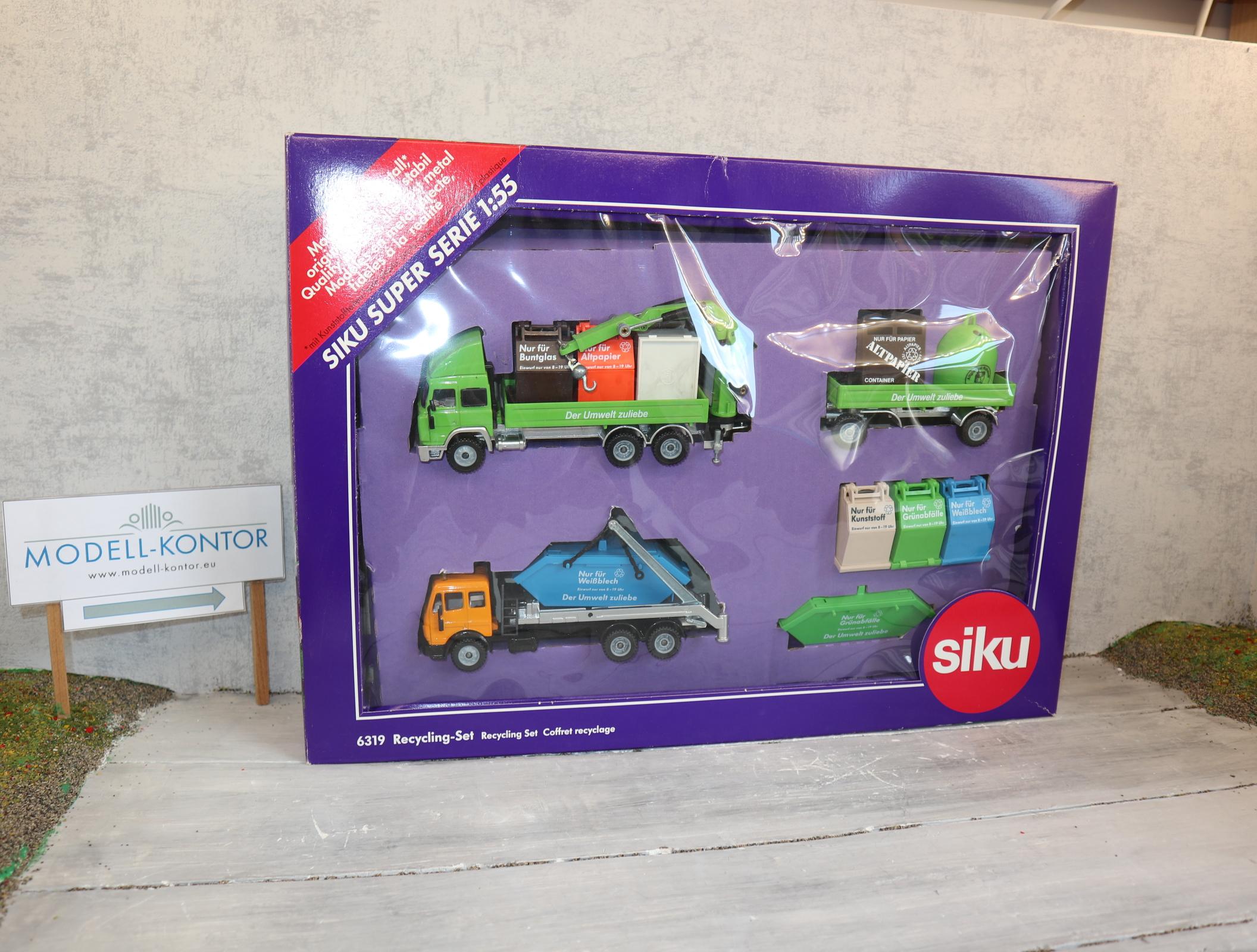 Siku 6319 in 1:55 Baustellen-Set komplett in OVP